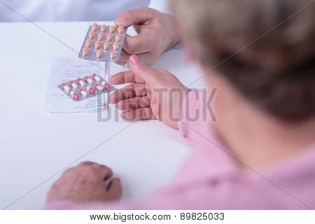 Giving Prescription And Medicament
