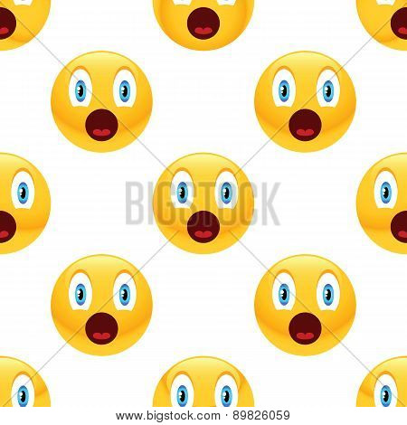 Surprised emoticon pattern