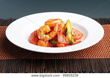 Sweet and Sour Shrimp Thai Dish