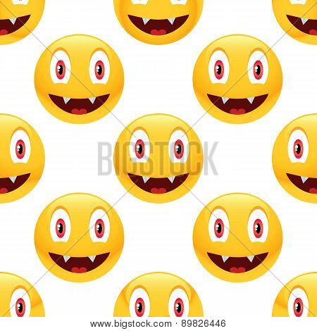 Vampire emoticon pattern
