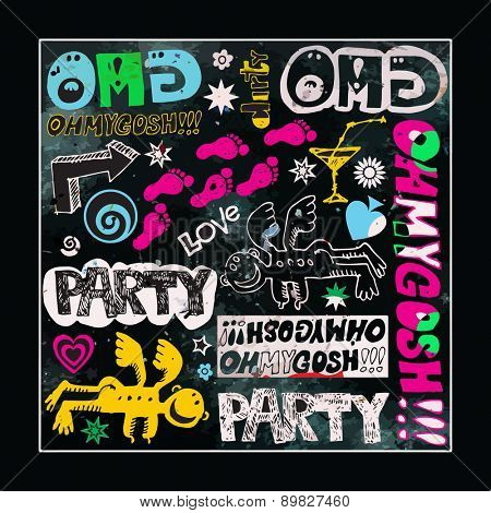 party background, abstract poster design