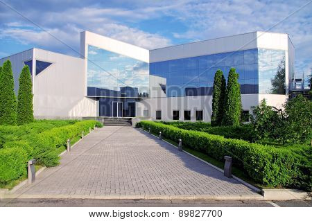 Corporate building in nature.