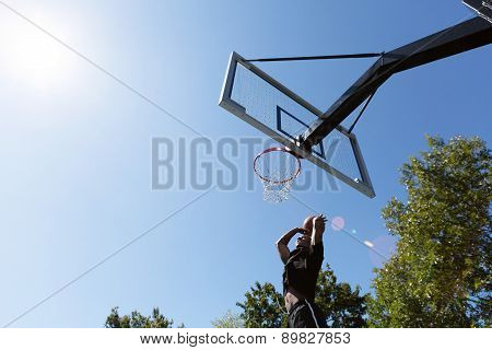 Basketball Dunk Outdoors