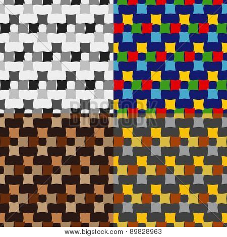 Set Color Of Seamless Patterns