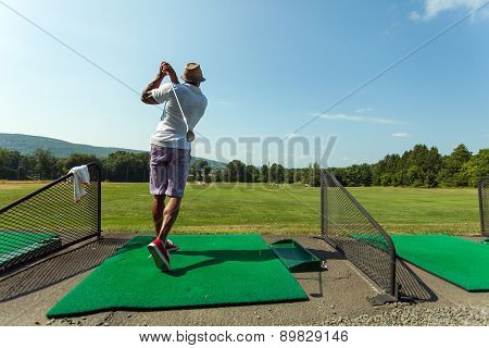 Driving Range Golf Swing