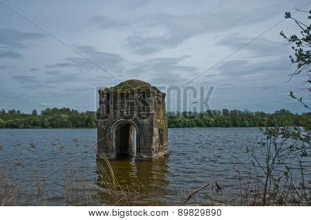 The Church, which is located in the water in Russia