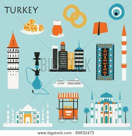 Symbols Of Turkey.