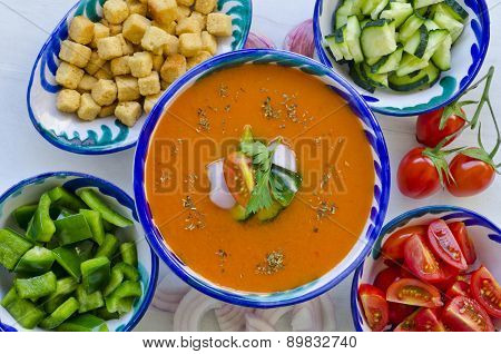 Spanish Cuisine. Gazpacho.