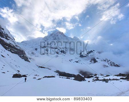 Trekking Annapurna Mountain at pokhara nepal