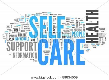 Word Cloud Self Care