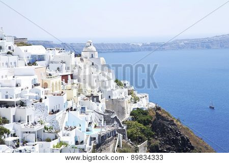 Fira City On Santorini Sland