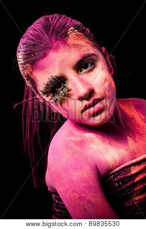Girl With Colored Powder
