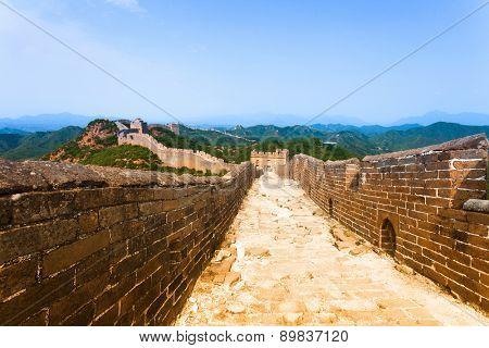 Great wall under sunshine