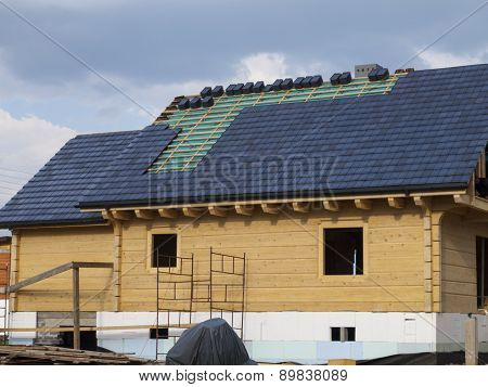 Construction, Laying Ceramic Tile Roof