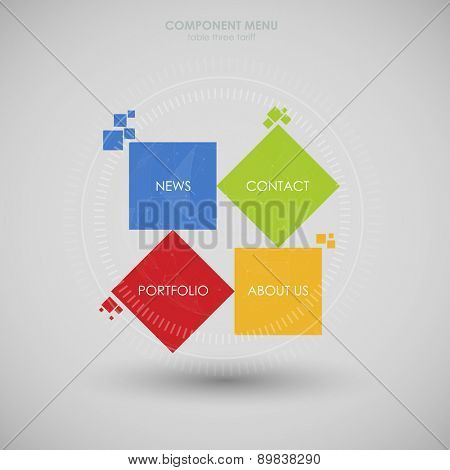 Web design. One two three four - vector progress steps for app ui, web, ux