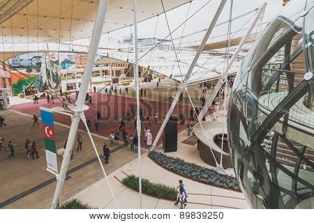 Top View From Azerbaijan Pavilion At Expo 2015 In Milan, Italy