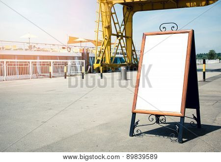 Small Blank Billboard