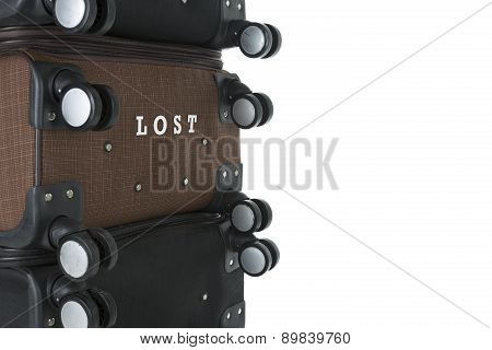 lost luggage suitcase with space for text