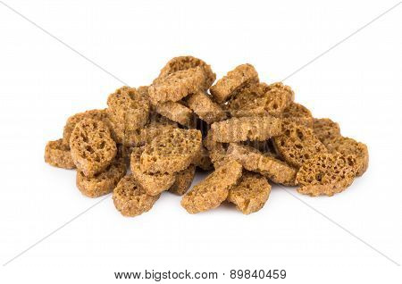 Heap Of Small Rusks With Salt, Black Bread