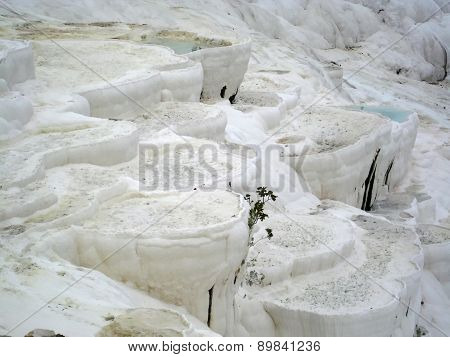 Travertine terraces at Pamukkale (Turkey)