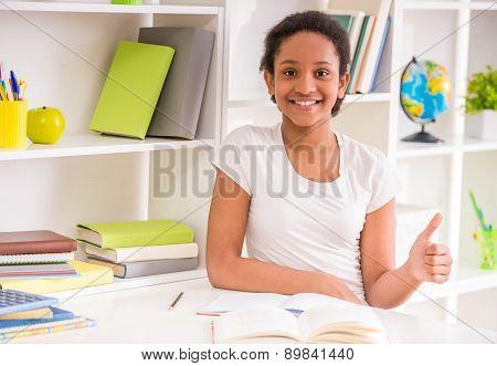 Schoolgirl At Home