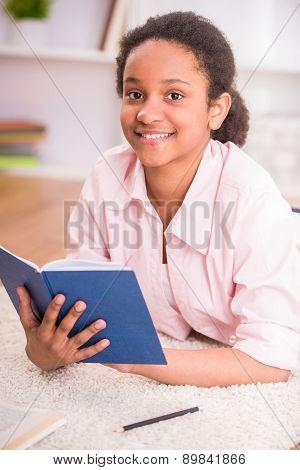 Schoolgirl With Book