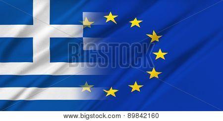 European Union And Greece.
