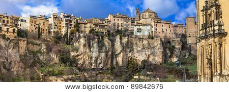 Cuenca- medieval town hanging on rocks, Spain