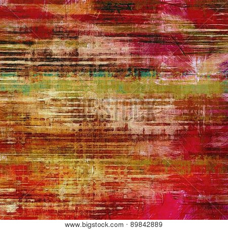 Grunge old texture as abstract background. With different color patterns: brown; green; pink; red (orange)