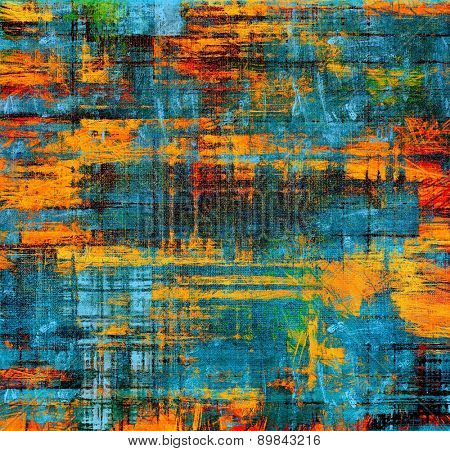 Old grunge antique texture. With different color patterns: yellow (beige); blue; cyan; red (orange)