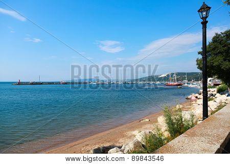 Coastal Summer Landscape Of Balchik Town