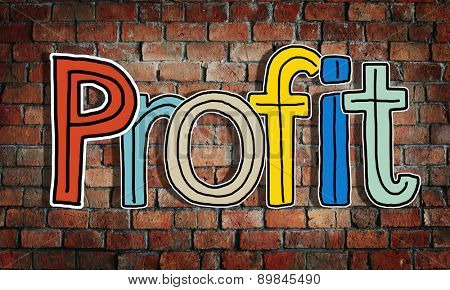Profit Word Concepts Isolated on Background Concept