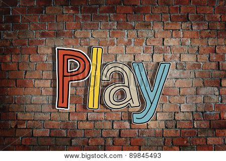 Play Word Concepts Isolated on Background Concept