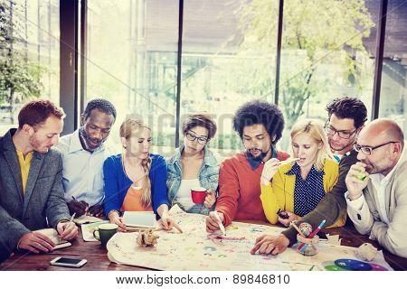 Diversity Casual People Teamwork Brainstorming Meeting Concept