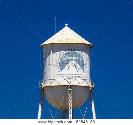 Paramount Pictures Water Tower And Sign