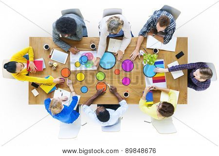 Business People Design Team Brainstorming Meeting Concept