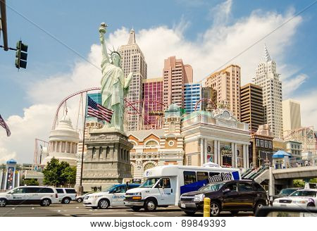 Front View Of The New York-new York Hotel And Casino In Las Vegas