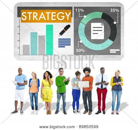 Strategy Business Planning Tactics Growth Concept