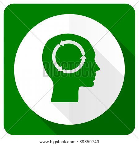head flat icon human head sign