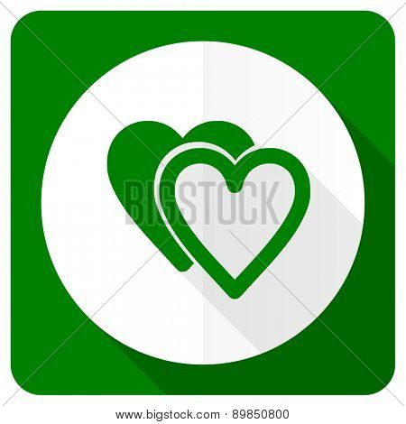love flat icon sign hearts symbol