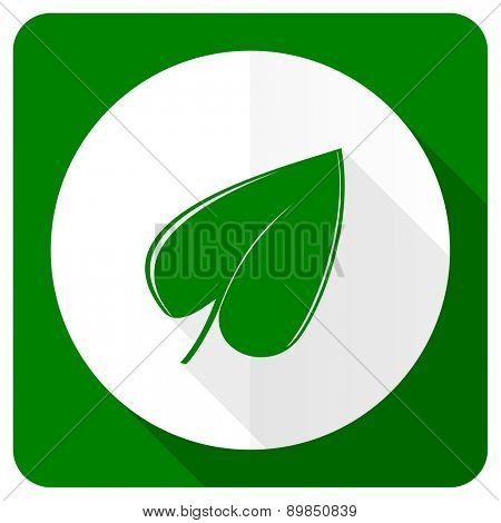 nature flat icon leaf symbol
