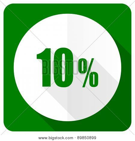 10 percent flat icon sale sign