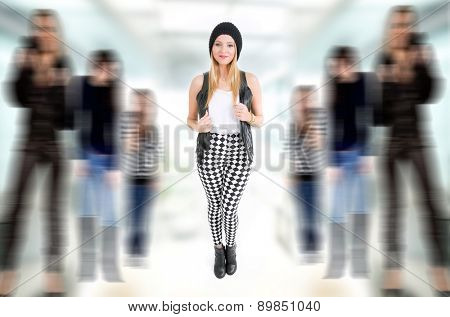 fashion young woman full length, studio picture