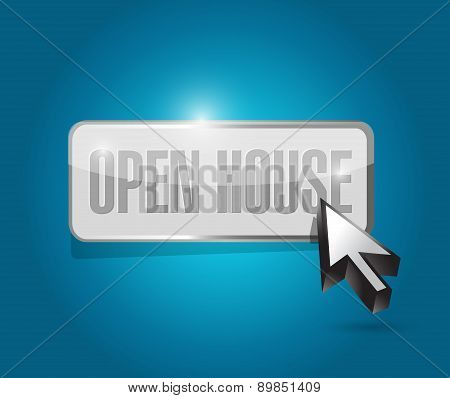 Open House Button Sign Concept