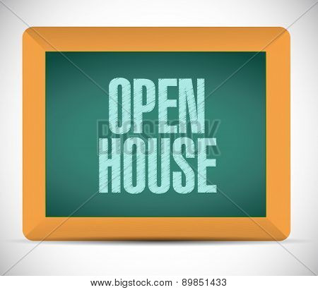 Open House Board Sign Concept