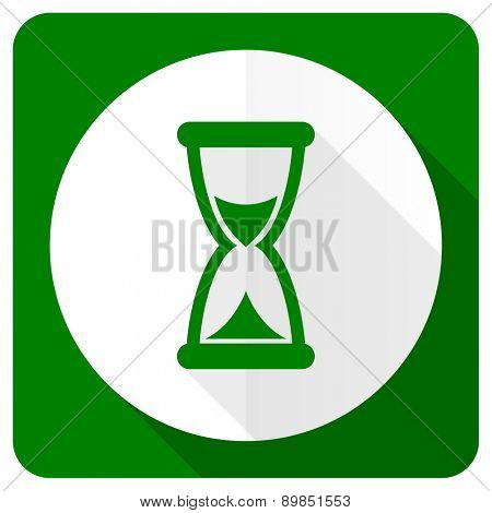 time flat icon hourglass sign