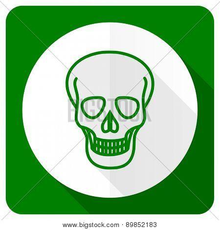 skull flat icon death sign