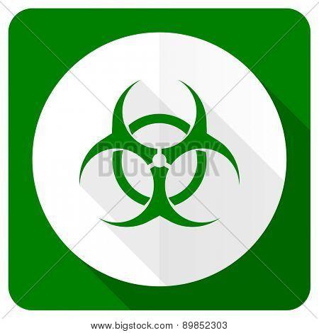 biohazard flat icon virus sign