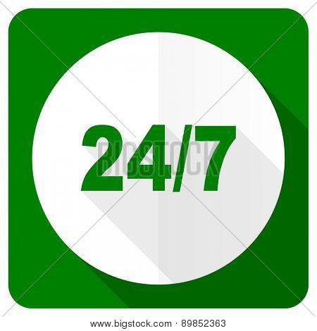 24/7 flat icon