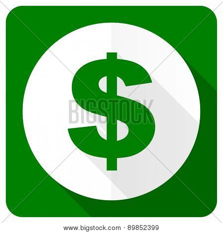 dollar flat icon us dollar sign